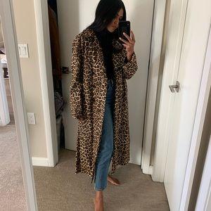 Bash Paris - fauve leopard trench coat